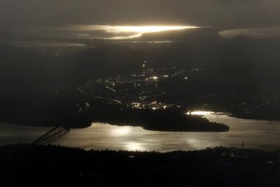 Hobart from Mount Wellington 3 - Tasmania, Australia