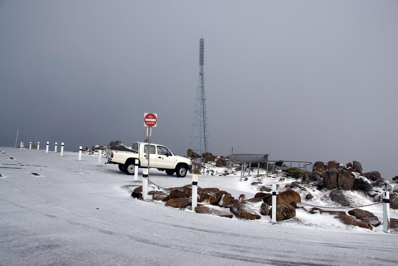 Snow on Mount Wellington - Tasmania, Australia