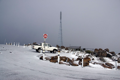 Snow on Mount Wellington - Tasmania, Australia