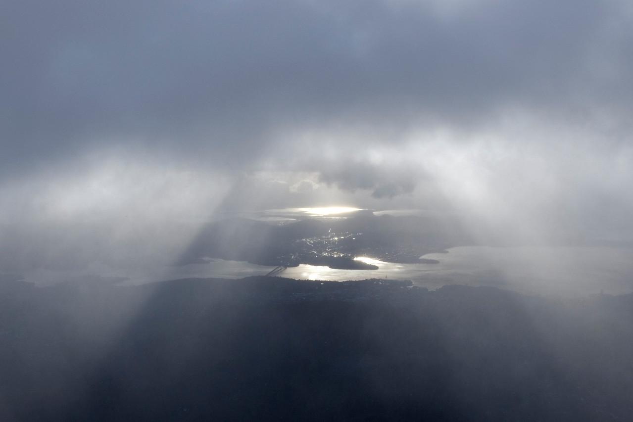 Hobart from Mount Wellington - Tasmania, Australia