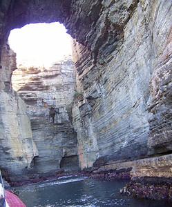 inside Tasman's Arch, Tasman National Park