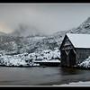 Dove Lake Boatshed at dawn<br /> Cradle Mountain National Park<br /> <br /> DM_9194
