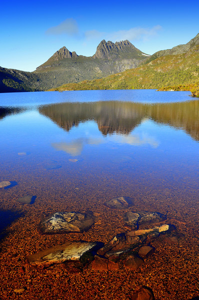 Reflection of Cradle Mountain