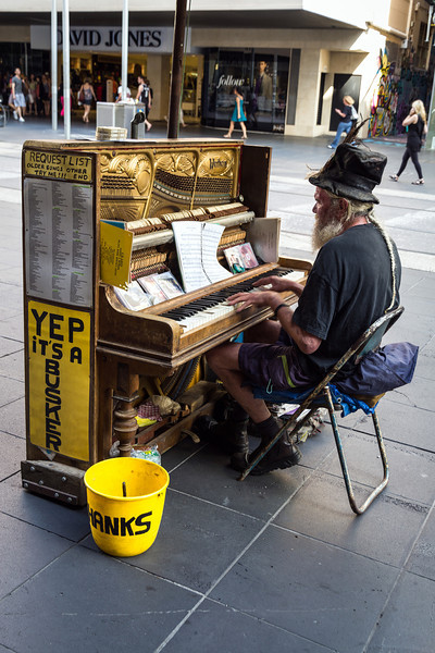 Yep it's a Busker, Bourke Street Mall Melbourne