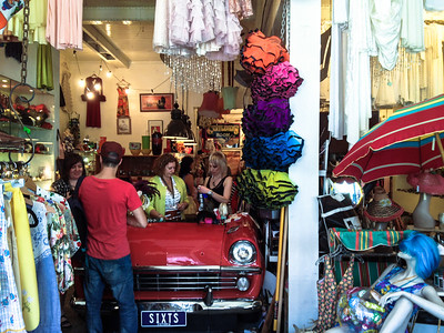 We spent more time in this vintage shop on Smith Street, Collingwood, than pretty much any other store.