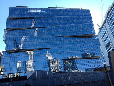 Strange architecture in the Docklands, opposite Southern Cross Station