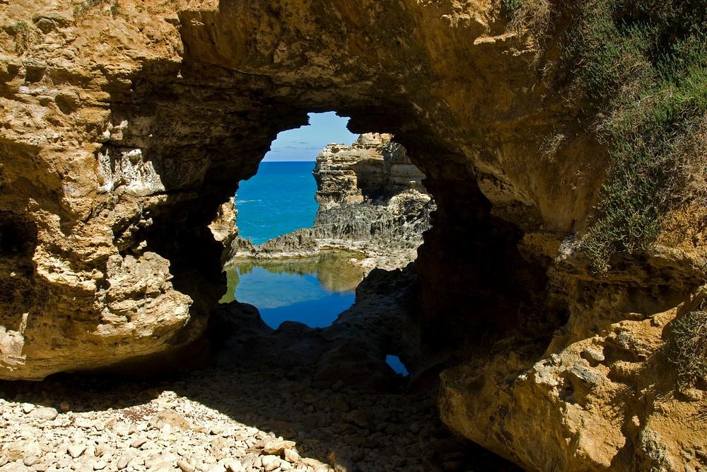 Rock portal on the Great Ocean Road, Victoria, Australia