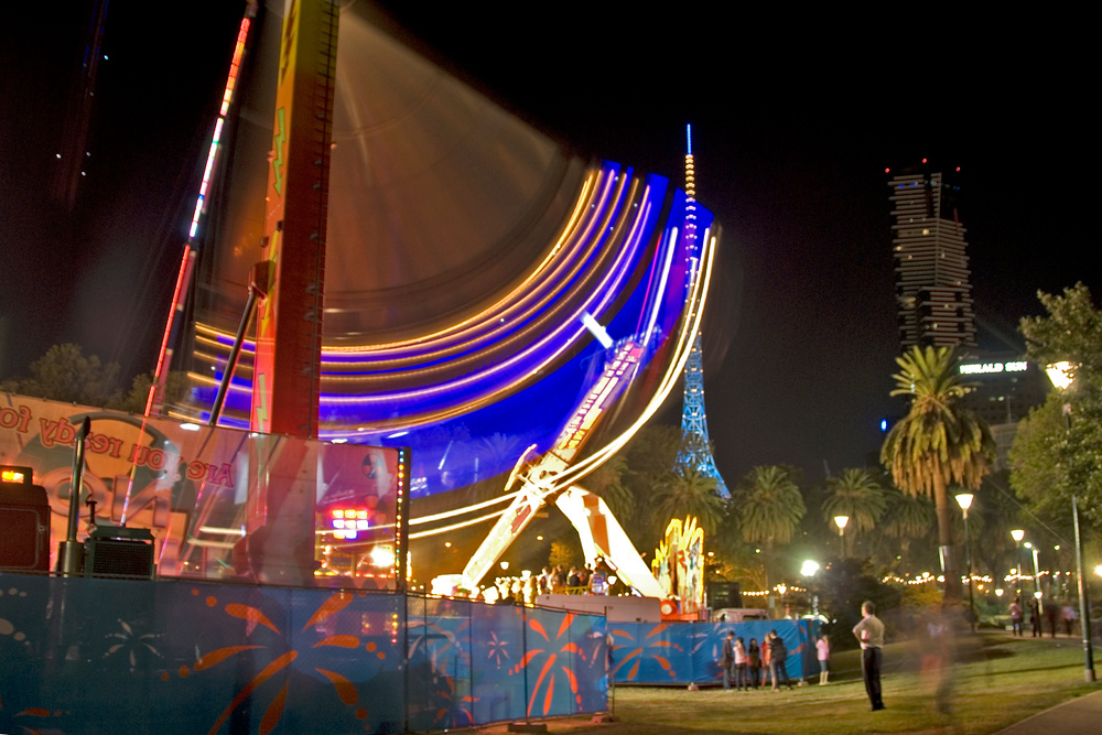 Carnival at night, Melbourne, Australia