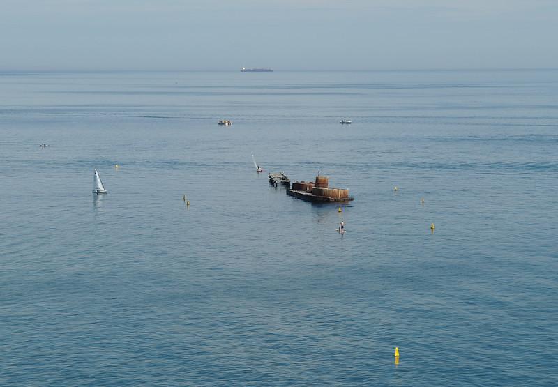 H.M.V.S. Cerberus<br /> <br /> Cerberus hajó roncsai az öbölben