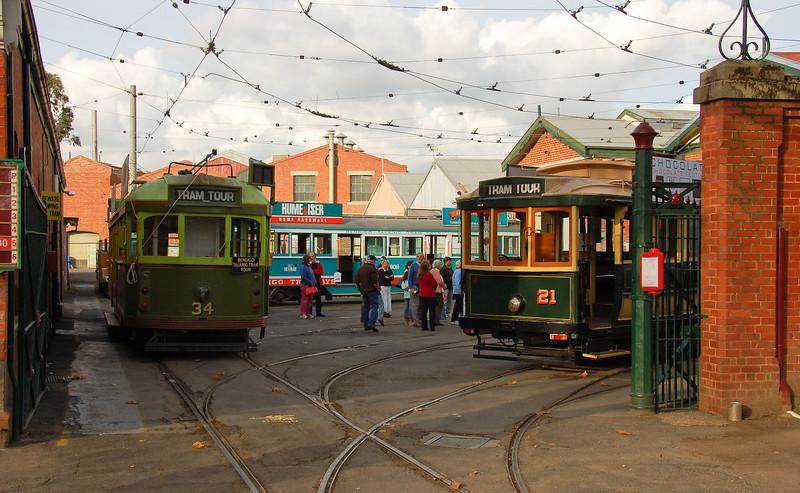 Tram museum<br /> <br /> Villamos múzeum