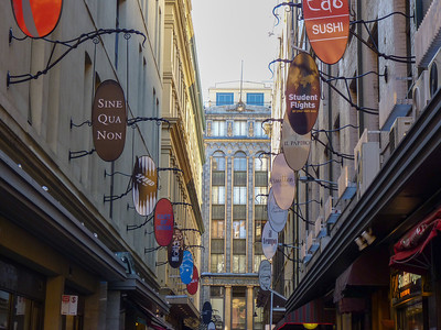 A CBD alley, full of nooks and crannies to explore.