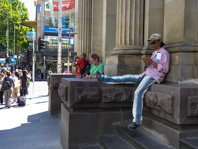 On the steps of the General Post Office