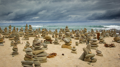 Stacked Rocks at Carisbrook Creek
