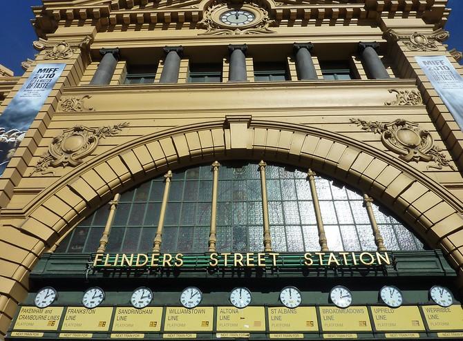Flinders Street Clocks, Melbourne - Australia