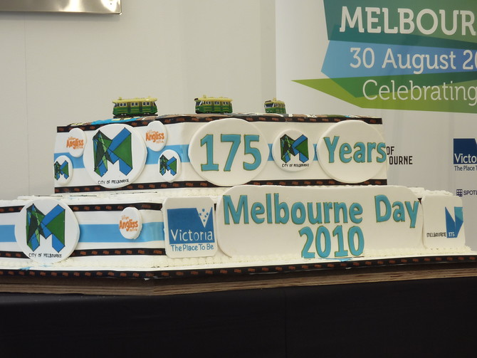 Melbourne Day Birthday Cake