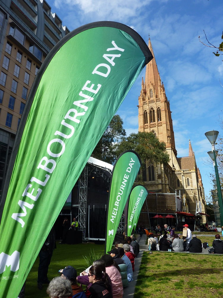 Melbourne Day Flags