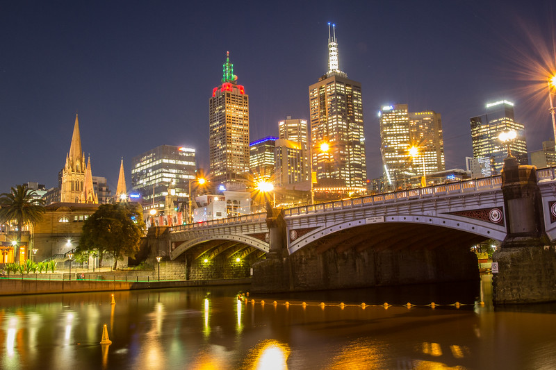 Melbourne Skyline and the Princes Bridge