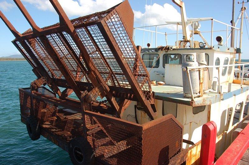 Old style boat in Port Welshpool<br /> <br /> Régi hajó Port Welshpool-ban