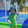 Playing at the splash park of Big4 caravan park in Swan Hill<br /> <br /> Mókázás a kemping viziparkjában