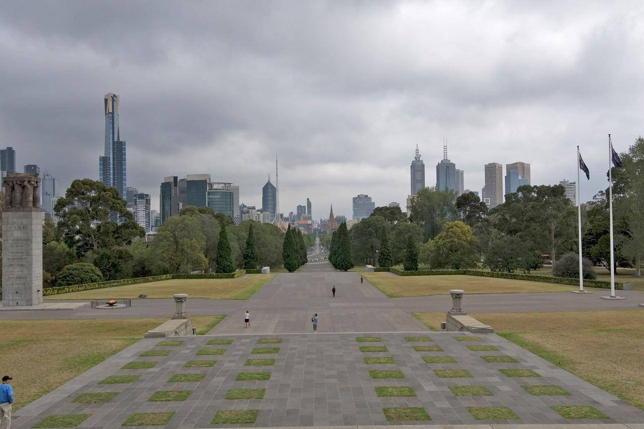 Skyline from Rememberance Hall - Melbourne, Victoria, Australia