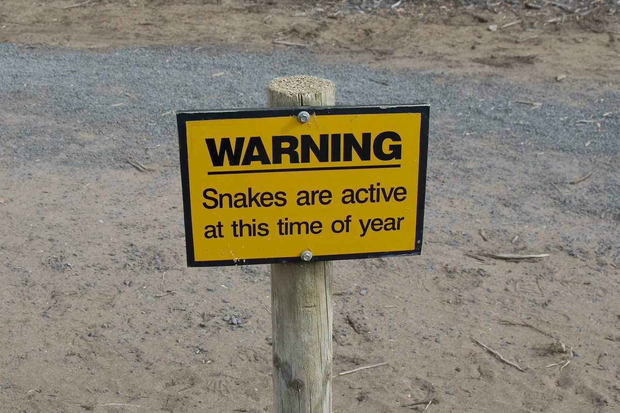 Snake Sign - Great Ocean Road, Victoria, Australia