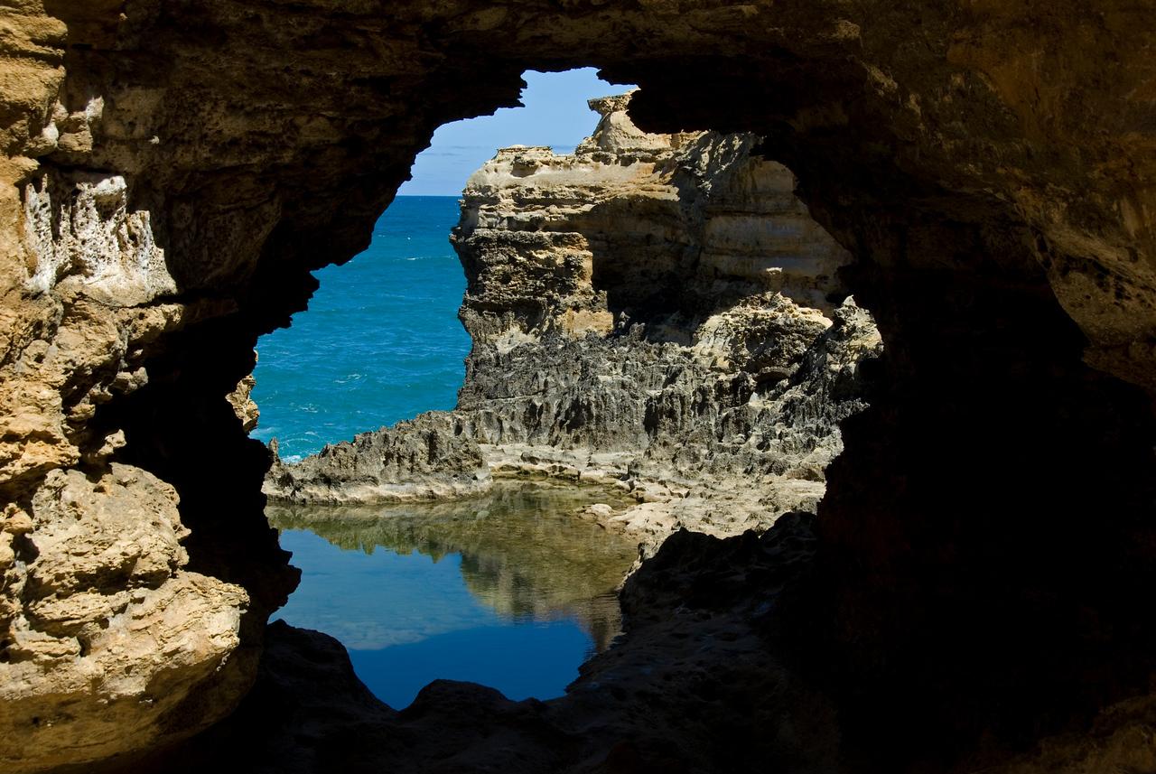 Rock Portal on the Great Ocean Road - Victoria, Australia