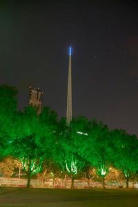 Night Spire HDR -  Melbourne, Victoria, Australia