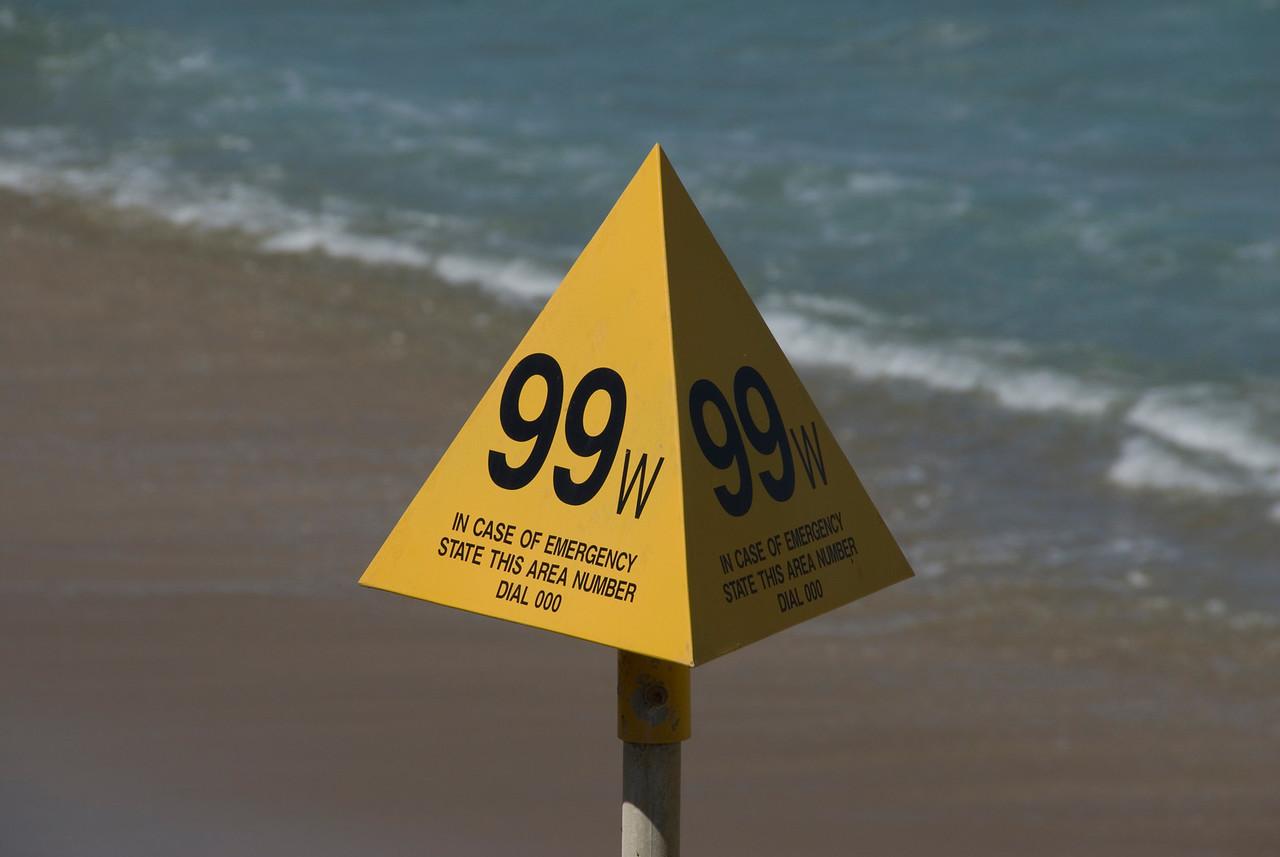 Sign on Beach - Great Ocean Road, Victoria, Australia
