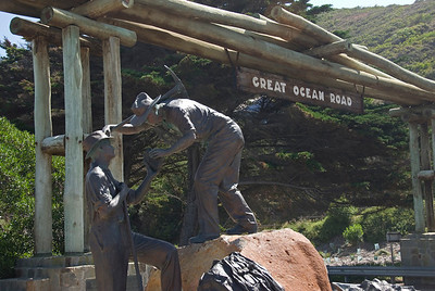 Sign and Statue 2 - Great Ocean Road, Victoria, Australia