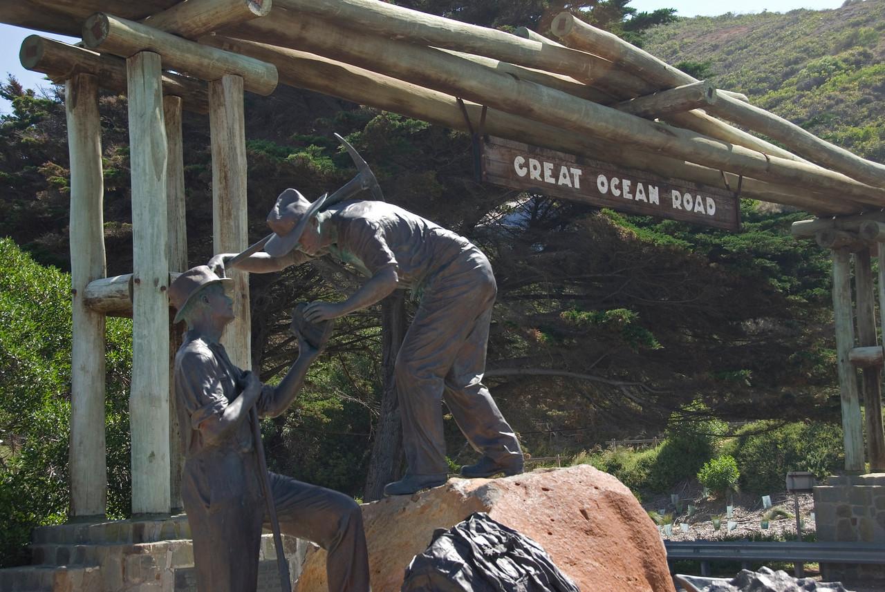 Sign and Statue 2 - Great Ocean Road, Victoria, Australia
