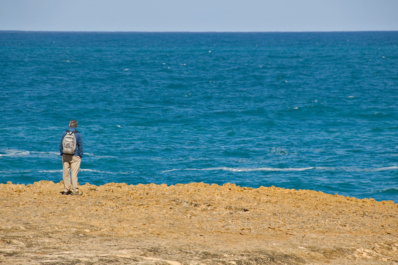 Man Watching Ocean - Great Ocean Road, Victoria, Australia