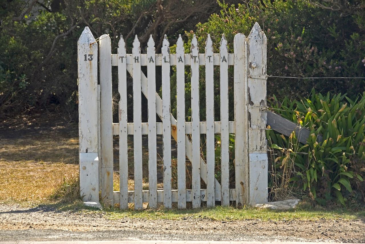 Gate at Split Rock Lighthouse - Great Ocean Road, Victoria, Australia