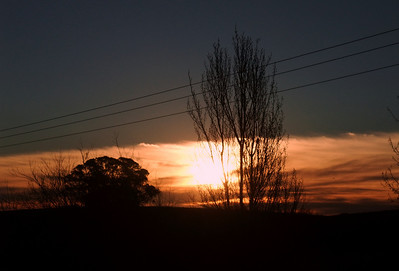 Wallendbeen sunset - June 2008