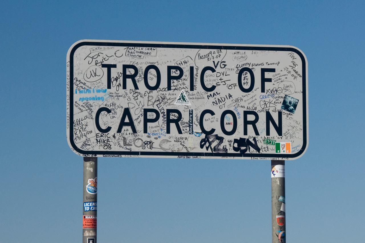 Tropic of Capricorn Sign 1 - Western Australia
