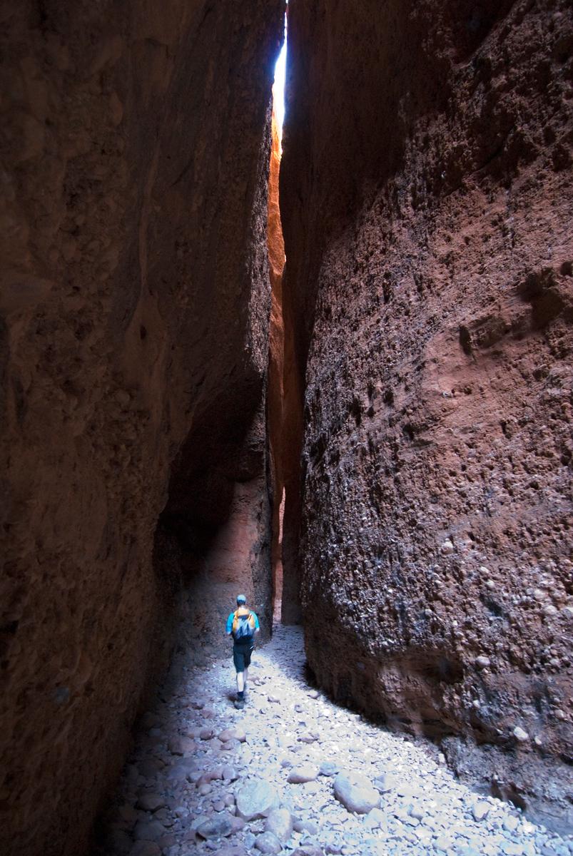 Hiker in Echnida Chasm, Western Australia