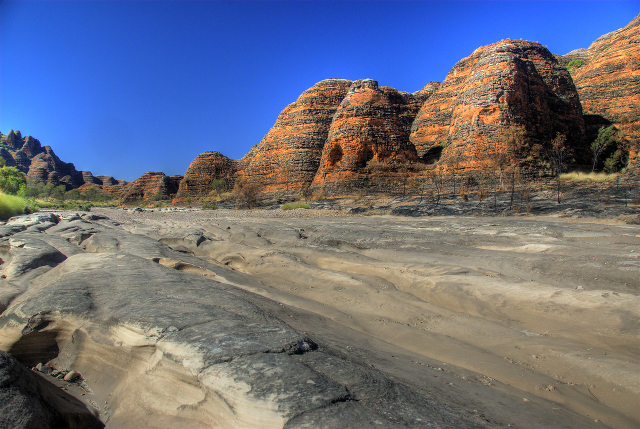 Domes and Picananny River, Purnululu National Park, Bungle Bungle Mountains - Western Australia