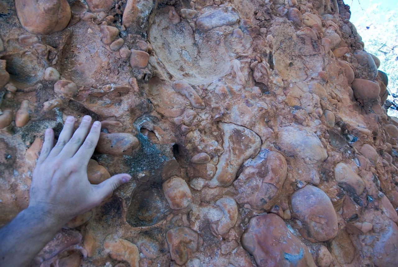 Large Grain Conglormate Sandstone, Echidna Chasm, Purnululu National Park - Western Australia