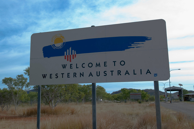 Western Australia Welcome Sign