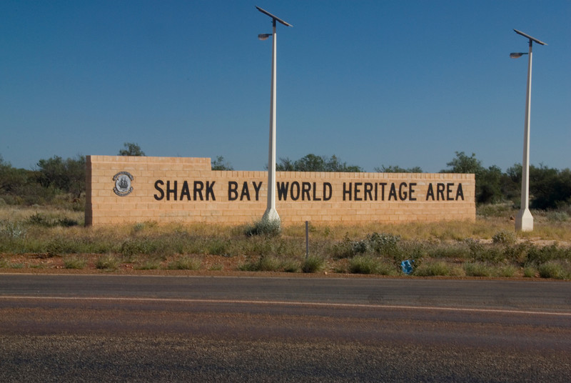 Shark Bay Sign, Hamelin Pool - Shark Bay, Western Australia