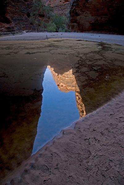 Bee Hive Dome Reflection in Pool 3, Purnululu National Park - Western Australia