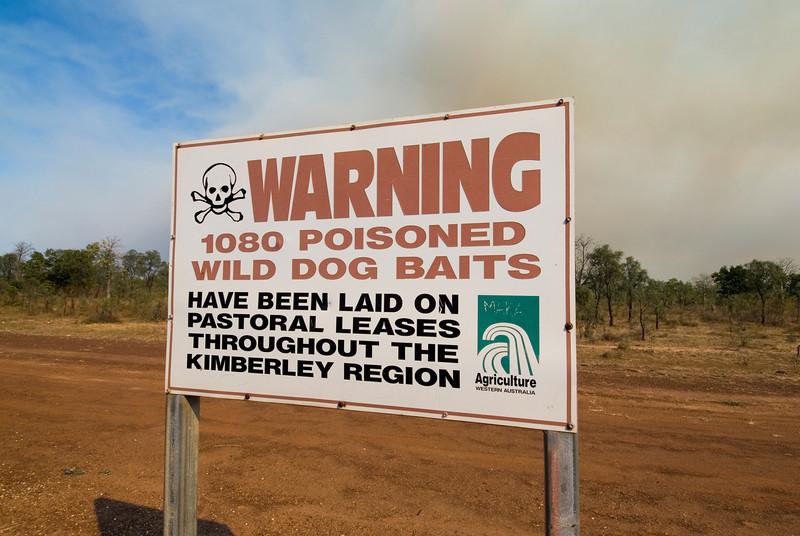Poison Warning Sign - Kimberly Region, Western Australia
