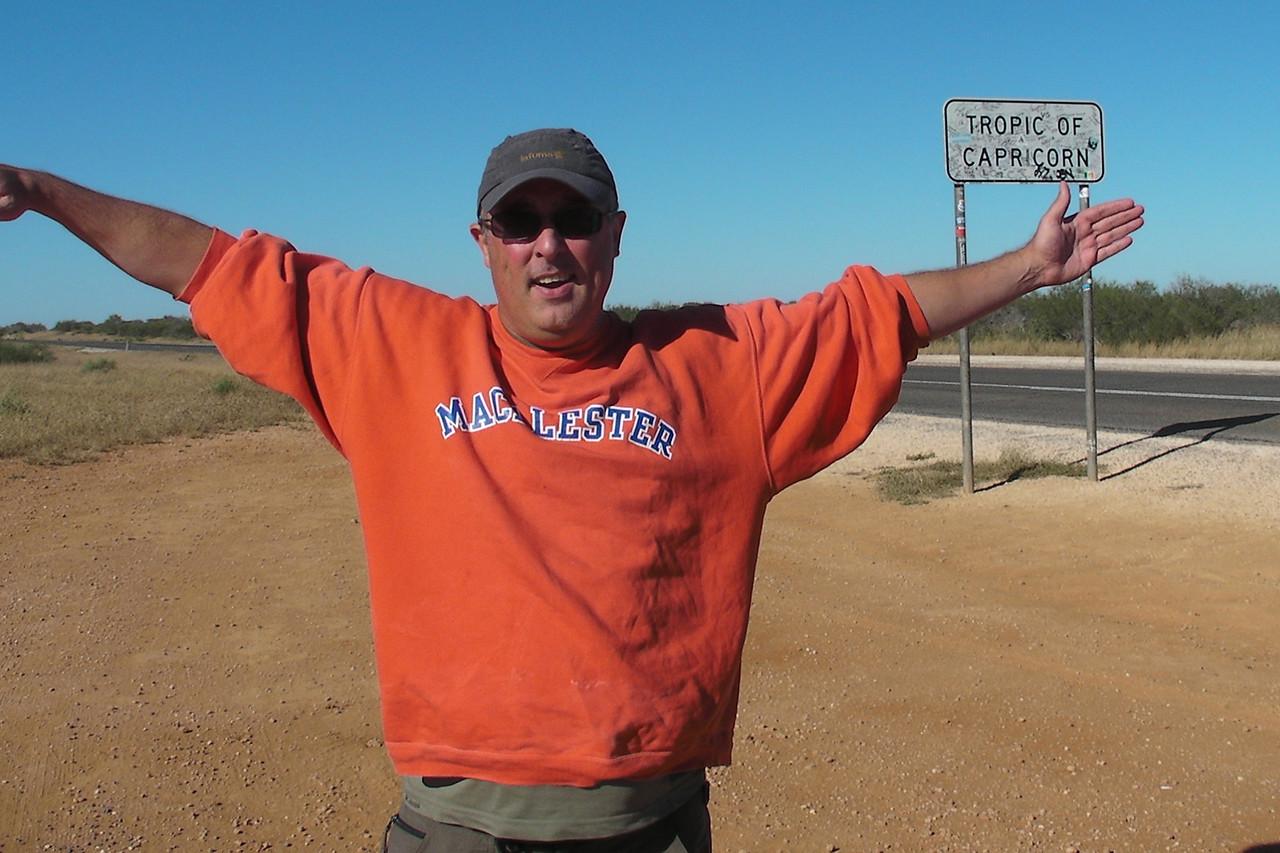 Me at the Tropic of Capricorn - Western Australia