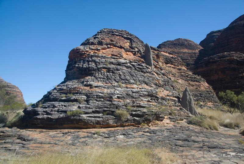 Termite Mounds on Bee Hive Dome 2, Purnululu National Park - Western Australia