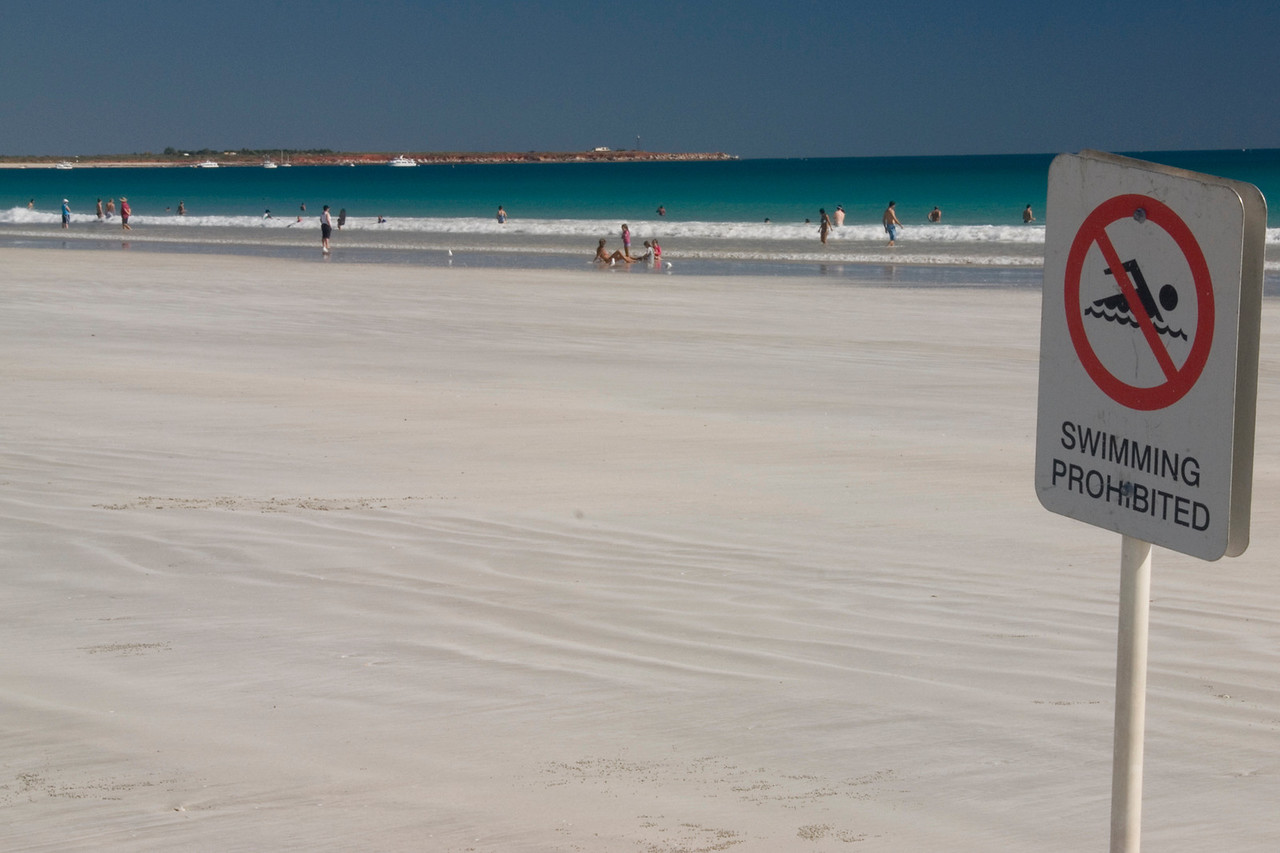 No Swimming??, Cable Beach - Broome, Western Australia