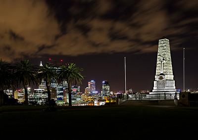 Image Title: Perth City 4 At Dusk / Kings Park.  Image No. kee9210c