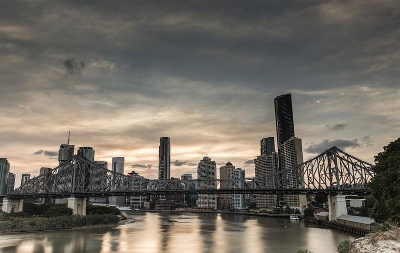 Brisbane CBD Sunset (HDR)