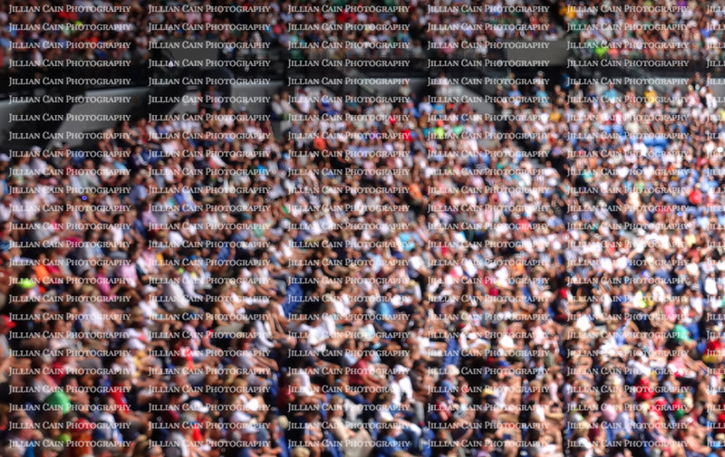 Blurred crowd spectators at the Australian Open tennis competition.