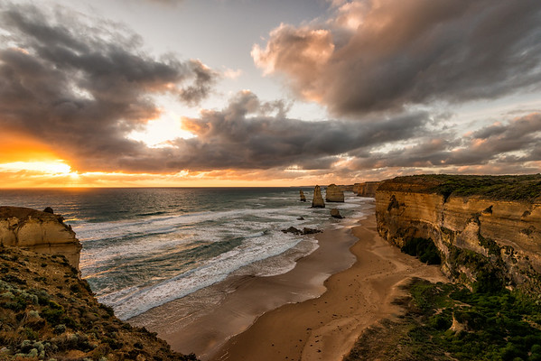 Sunset at the Twelve Apostles, Great Ocean Road, Australia