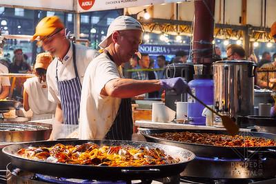 Australia, Melbourne, Night Market, Queen Victoria Market, Street Market, paella