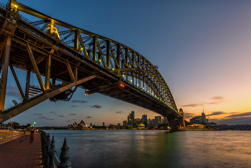 Sydney Harbor Bridge at Sunset